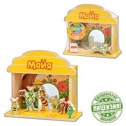 Деревянная игрушка Игра-логика GT 6295 (12шт) Пчелка Майя, фигурки, в кульке, 19-20-5см