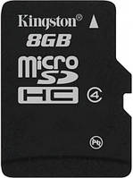 Карта памяти kingston microsd 8 Гб класс 4 (sdc4/8gbsp)
