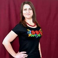 Женская футболка вышиванка мак патент | Жіноча футболка вишиванка мак патент