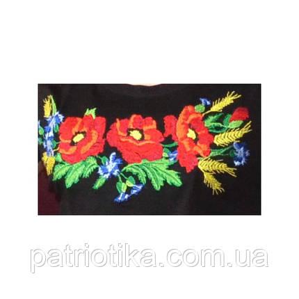 Жіноча футболка вишиванка мак патент | Жіноча футболка вишиванка мак патент, фото 2