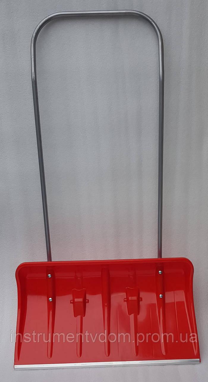 Скрепер на колесах для уборки снега MAAN (красный)