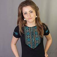 Женская футболка вышиванка в 4 цветаx | Жіноча футболка вишиванка в 4 кольорах, фото 1