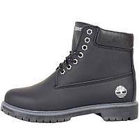 Ботинки женские Timberland (черные) на МЕХУ! Top replic