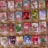 Открытки новогодние  3,5 см*5 см набор 320 штук Польша , фото 3