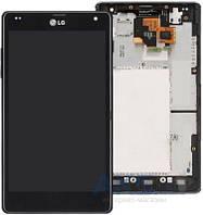 Дисплей (экран) для телефона LG G E970 + Touchscreen with frame Original Black