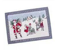 Салфетка гобеленовая новогодняя на стол 37*49 см Зимняя сказка