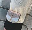 Сумка женская клатч на цепочке Classik Feshen серебро, фото 3