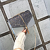 Сумка женская клатч на цепочке Classik Feshen серебро, фото 2