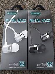 Вакуумні навушники Celebrat G2