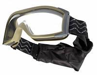 Очки Bolle тактические X1000 песочные, прозрачные линзы # X1SSTDI