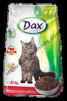 Сухой корм для кошек Dax® (Дакс, Венгрия) с говядиной, 10 кг