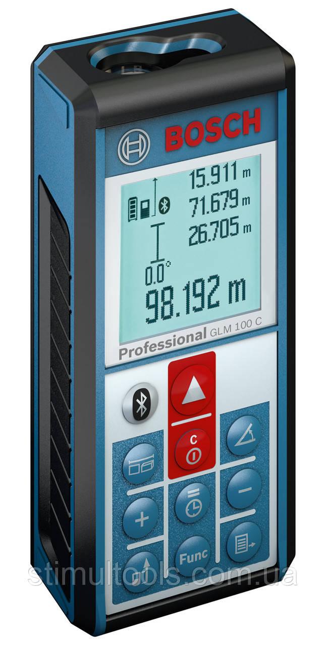 Лазерный профессиональный дальномер Bosch GLM 100 C без упаковки