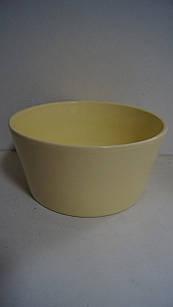 Горшок для цветов декоративный керамический желтый