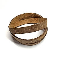 Кольцо из скорлупы кокоса шлифованное