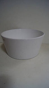 Горшок для цветов декоративный керамический белый