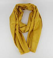 Кашемировый палантин Louis Vuitton 8881-26 горчичный двусторонний, фото 1
