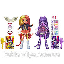 Набор кукол My Little Pony Equestria Girls Сансет Шимер и Твайлайт Спаркл