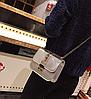 Сумка женская через плечо в стиле  Fashion с шипами Серебро