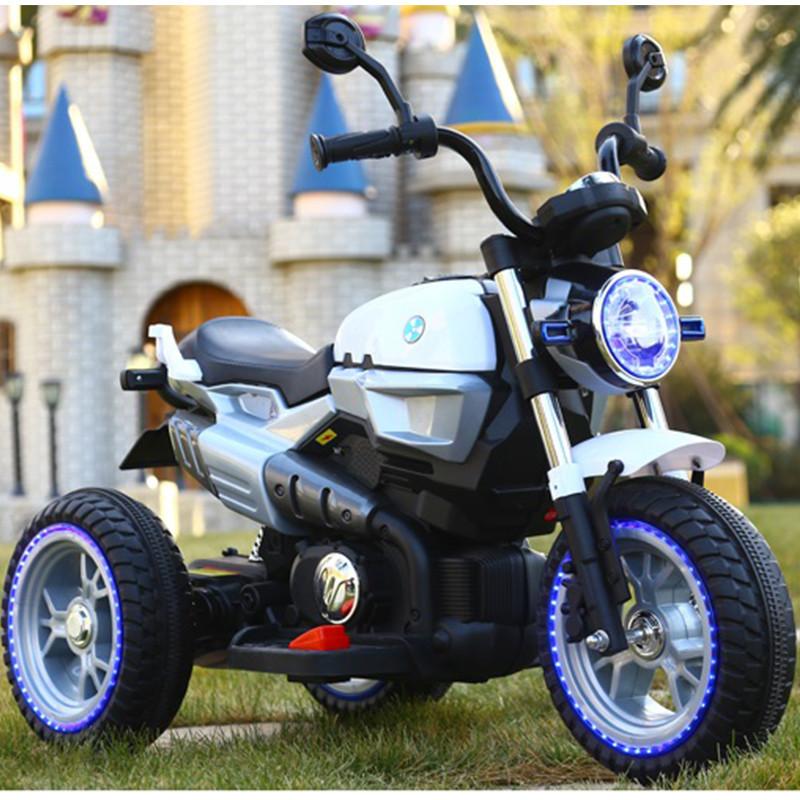 Детский мотоцикл M 3687 AL-1: 36W, кожа - Белый- купить оптом