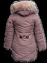 Теплое и легкое зимнее пальто для девочки Размеры 38- 44 на 7-14 лет , фото 3