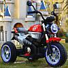 Детский мотоцикл M 3687 AL-3: 36W, кожа - Красный- купить оптом