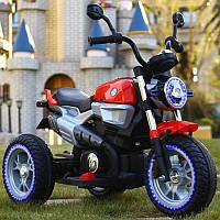 Детский мотоцикл M 3687 AL-3: 36W, кожа - Красный- купить оптом, фото 1