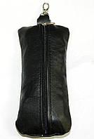 Кожаная мужская ключница кх 7 черная, фото 1