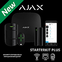 Ajax StarterKitPlus Black — комплект беспроводной сигнализации