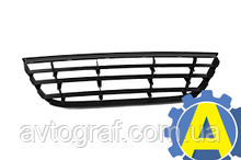 Решетка в бампер передний на Фольксваген Поло (Volkswagen Polo) 2005-2009