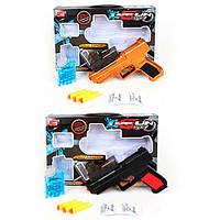 Пистолет XH332-32 (48шт) 22см, водяные пули, мягк.пули-присоски 3шт, 2вида,в кор-ке, 35-23,5-4см