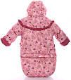 Дитячий костюм-трійка (конверт+курточка+напівкомбінезон) для дівчинки Рожевий бебі, фото 4