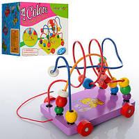 Деревянная игрушка Каталка + Лабиринт, E12546, 003980, фото 1