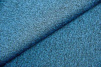 Трикотаж рибана  Sport  Морская волна меланж (остаток 30 см 45 см)