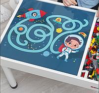 Съемное игровое поле для столика-песочницы KIDZ ZONE Космос