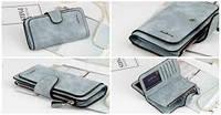Кошелёк портмоне клатч женский BAELLERY FOREVER - стильный и удобный! Голубой, фото 1