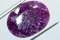 Рубин кабошон граненый, камень под украшение с натуральным рубином Индия, фото 1