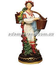 Подставка для цветов кашпо Украинка с коромыслом, фото 2