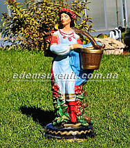 Подставка для цветов кашпо Украинка с коромыслом, фото 3