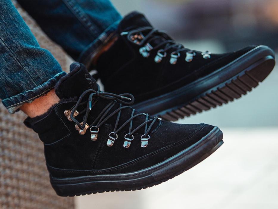 Ботинки Мужские Зимние South snake black чёрные, оригинал