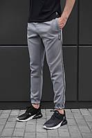 Спортивные штаны beZet grey with reflective, спортивные серые штаны с лампасами, фото 1