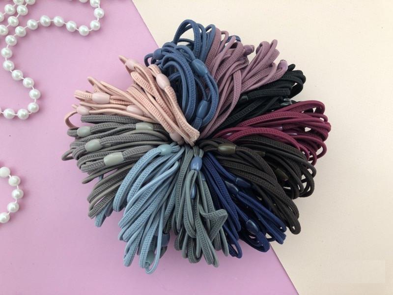 Набор разноцветных резинок 10-ти цветов для волос
