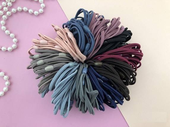 Набор разноцветных резинок 10-ти цветов для волос, фото 2