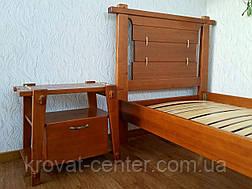 """Дизайнерская односпальная деревянная кровать от производителя """"Робинзон"""", фото 3"""