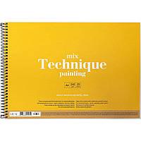 "Альбом для малюв. на пруж. 20/120 А4 ""Muse"" Mix Technique картон №PB-SC-020-303/Школярик/(36)"