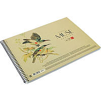 "Альбом для рисования на пружине 30 листов A4 ""Muse"" крафт-картон (36) №PB-SC-030-163/Школярик/"