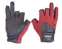 Перчатка спиннингиста Fishing ROI WK-11 red L (c 2 пальц.)