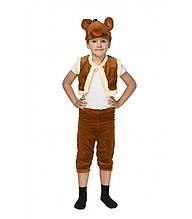Детский костюм на утренник Медведь ( шапка-маска, жилетка и капри) Искусственный мех