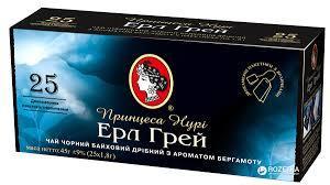 """Чай """"Принцесса Нури"""" чёрный """"Эрл Грей""""  ф/п  25 шт*1,8 г"""