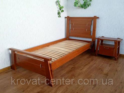 """Дизайнерская односпальная деревянная кровать от производителя """"Робинзон"""", фото 2"""
