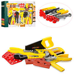 Набор инструментов TP343 (24шт) пила,молоток,отвертка, плоскогубцы, ключи, в кор-ке, 46-33-7см